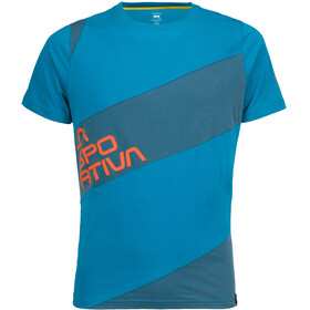 La Sportiva Slab Shortsleeve Shirt Men blue/teal